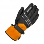 Перчатки горнолыжные Reusch Powderstar orange popcicle/black